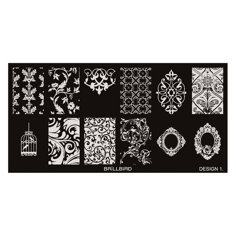 Nail Stamp Plates – Design 1