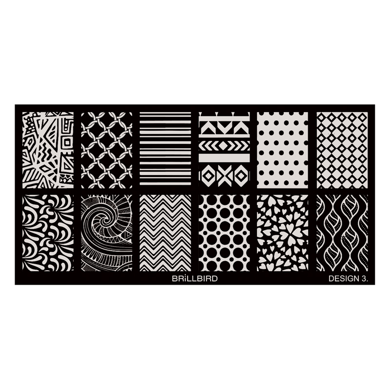 Nail Stamp Plates – Design 3