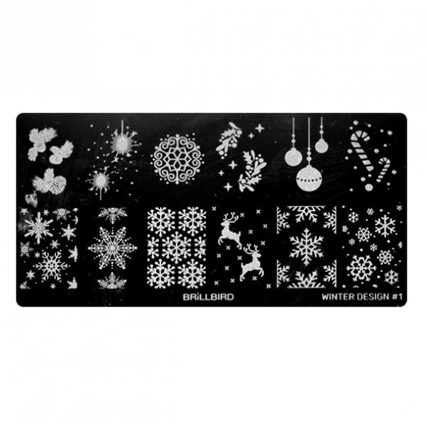 Nail Stamp Plates – Winter Design 1